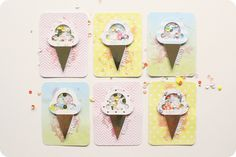 Guest post: Carrie Elias - Ice Cream Shaker cards made with my Silhouette #ATC
