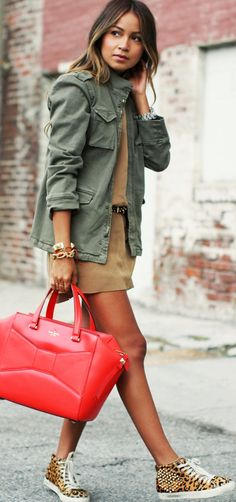 Kate Spade red and leopard