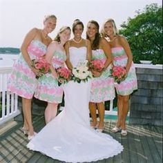 Lilly Pulitzer bridesmaides dresses