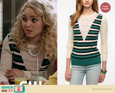 The Carrie Diaries Fashion: Striped Coincidence and Chance pullover from Urban Outfitters worn by AnnaSophia Robb