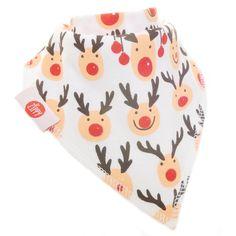 Zippy Diversión Navidad bebé y Bandana babero - absorbentes 100% algodón frontal Dribble babero con correas ajustables (paquete de 4 Set de regalo) Unisex rojo y blanco #modainfantil #modanavidad #ropainfantil #ropanavidad
