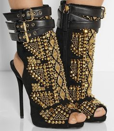 280e2851c1c84 GIUSEPPE ZANOTTI Embellished suede sandals Fab Shoes