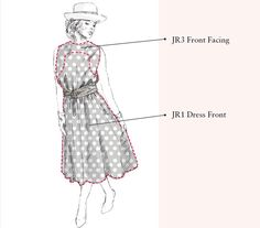 A step-by-step guide to making the iconic brown and white polka dot polo dress worn by Julia Roberts in Pretty Woman.