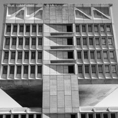 The lower part of this iconic Breuer building had to make way for an Ikea.  http://ift.tt/1SJwScj  Marcel Breuer: Pirelli Tire Building New Haven Connecticut USA 19681970  Photo: Jordan Meeter 2015 (CC BY-NC 2.0)