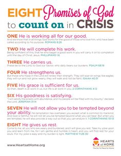 8 Promises You Can Count On In a Crisis