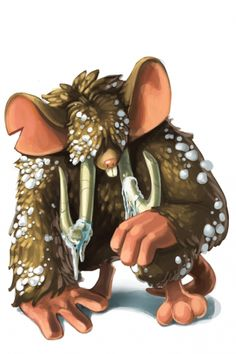 The Mammoth Mouse is monsterous in size.  Typically a calm creature but has become a much more formidable creature under the auspices of Icewing.    http://www.mousehuntgame.com