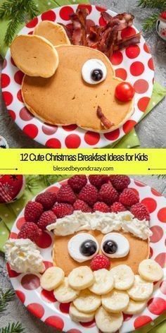 Help the kiddos count down the 12 days to Christmas by making a different breakfast each morning. Help the kiddos count down the 12 days to Christmas by making a different breakfast each morning. Christmas Brunch, Christmas Goodies, Christmas Fun, Christmas Pancakes, Santa Pancakes, Christmas Lunch Ideas, Christmas Traditions Kids, Christmas Decorations, Christmas Recipes For Kids