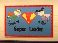 leader in me school hallways - Bing Images Superhero School Theme, Superhero Classroom Decorations, School Decorations, School Themes, Classroom Themes, Classroom Organization, Superhero Ideas, Classroom Door, Superhero Kindergarten