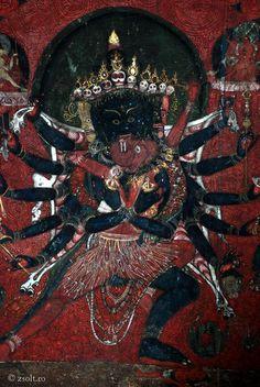Kali & Bhairava in union. (Wrathful forms of Parvati & Shiva)