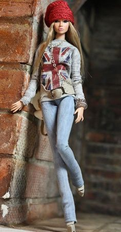 """Barbie doll """"The not Just Cute"""" Outfit Leather Barbie I, Barbie World, Barbie Dress, Barbie And Ken, Barbie Clothes, Barbie Model, Barbie Style, Pretty Dolls, Cute Dolls"""