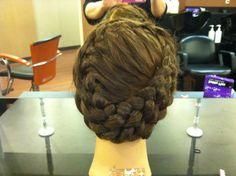 Round braided updo - French braid - Dutch braid - braided halo - braided crown - wedding hair - bridal hair