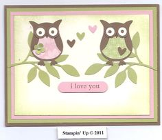 stampin up owl punch - Google Search