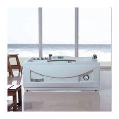 G-Fidji Baignoire Balnéo rectangulaire whirlpool 30 jets.30 jets de massage s'occupent de détendre votre corps immergé dans la baignoire pendant que les lumières de la chromothérapie vous apaisent et vous détendent en ambiançant votre salle de bain
