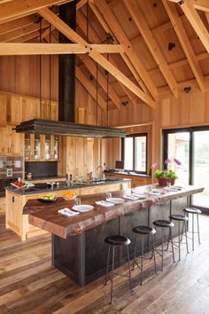 Love this idea for a lake house kitchen