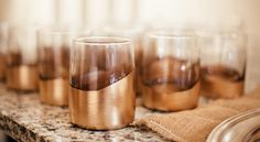 DIY Gold Leaf Glasses | Trouvé Magazine