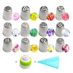 Stainless Steel Russian Tulip Icing Piping Nozzles Flower Cream Pastry Tips Nozzles Silicone Bag Kitchen Accessories Icing Tips, Frosting Tips, Cake Nozzles, Russian Nozzles, Professional Cake Decorating, Cake Slicer, Cake Decorating Kits, Piping Icing, Dream Cake