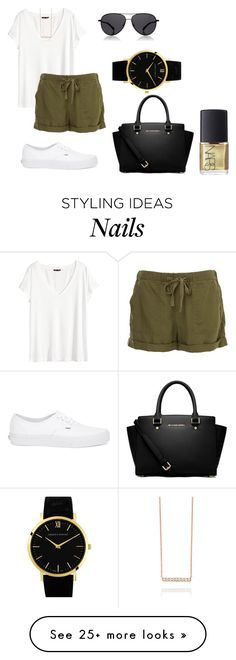 """lazy day"" by bintoman on Polyvore featuring H&M, Vans, The Row, MICHAEL Michael Kors, Larsson & Jennings and NARS Cosmetics"