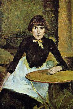 H de Toulouse-Lautrec. At La Bastille (also known as Portrait of Jeanne Wenz) - 1889