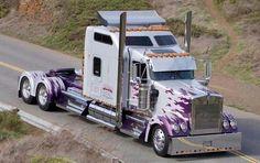 White w/ purple flames KW