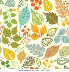 Seamless Pattern With Leaf, Abstract Leaf Texture, Endless Background.Seamless Pattern Can Be Used For Wallpaper, Pattern Fills, Web Page Background, Surface Textures. Ilustraciones Vectoriales de Stock: 85010221 : Shutterstock