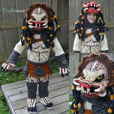 Knitting is an art, and for Halloween costume idea it's best and creative. Check 8 handmade kids Halloween costumes that you never seen before. Smurf Costume, Crochet Halloween Costume, Pizza Costume, Gnome Costume, Amazing Halloween Costumes, Crochet Costumes, Unique Costumes, Creative Costumes, Halloween Kostüm