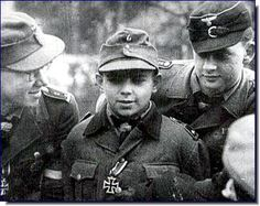 Hitler-Jugend troops with boys as young as 12 were widely used in the battle of Berlin as cannon fodder to buy a few hours to Nazi criminals busily fleeing to Switzerland, Argentina or Urugway Cross Of Iron, German Boys, Grand Chef, Germany Ww2, The Third Reich, Portraits, Old Boys, Vietnam War, World War Ii