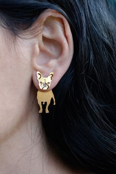 Dog Breed Earrings Complete Range Of Articles Westie Earring West Highland Terrier Dog Jewelry Dog Ear Jacket Earring Front Back Earring