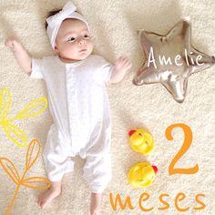 2 meses de Amelie! www.blogpetitninos.com.br