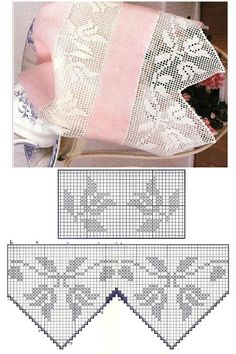 Edgings-Trims Filet Crochet Border