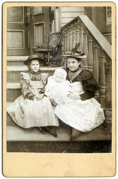 A photo that is easy to fall in love with...  No markings. Found in a Victorian photo album from a New York estate.