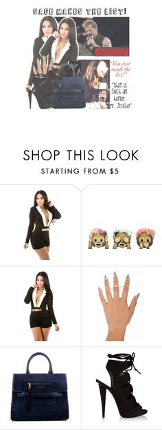"""""""Raw: Sage Makes Chris Jericho's List!📝"""" by sage-forever ❤ liked on Polyvore featuring WWE, Marc Jacobs and Giuseppe Zanotti"""