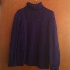 Purple cable sweater Sweater Ralph Lauren Sweaters Cowl & Turtlenecks