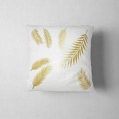 Gold palm leaves Palm Pillow Decorative Pillow 16x16 Home