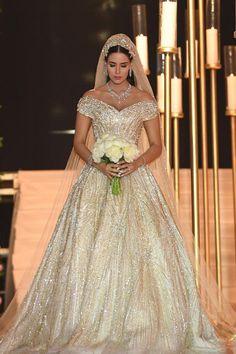 This Lebanese Bride's Custom Wedding Dress Was So Magical, It Got Its Own Hashtag
