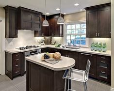 kitchen dark cabinets design pictures remodel decor and ideas page 3 - Remodel Small Kitchen Ideas