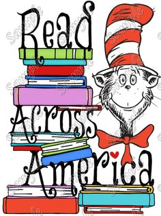 Dr. Seuss Read Across America T Shirt Iron on Transfer Decal #74