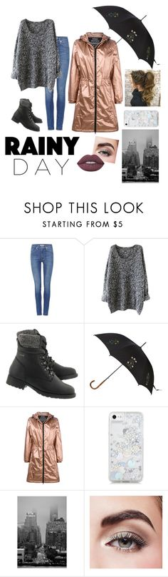 """Rainy day in NYC"" by oliviagrace14 ❤ liked on Polyvore featuring Levi's, Alexander McQueen, Ecoalf, Skinnydip, Avon and Lime Crime"