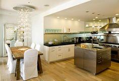 Cocinas con isla o abiertas al salón