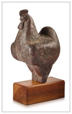 "1928 COCKEREL (COCK) by LEON INDENBAUM 1890-1981. This French sculptor born in Belarus, arrives in Paris in 1911 in ""LA RUCHE"" He participated in the movement ECOLE DE PARIS with the sculptors Archipenko, Brancusi, Bourdelle, Chagall, Csaky, Laurens, Lichitz, Matisse, Miestchaninoff, Modigliani, Orloff, Picasso, Zadkine… One of his sculptures beats the world record 1964 for a decorative artwork of the 20th century at $ 4.6M. Terracotta sculpture 10 in. - 27 cm. Sold in 2013 at Christie's…"