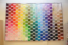 Kona color card quilt made by Lisa Alexakis