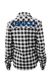 Kentucky Girls Blue Buffalo Plaid Long Sleeve T-shirt