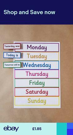 Days of the week Peg Chart teaching resource EYFS educational - Grundschule English Grammar For Kids, Learning English For Kids, Teaching English Grammar, English Worksheets For Kids, English Lessons For Kids, English Activities, Preschool Learning Activities, English Language Learning, Learn English Words