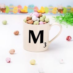 Everyone can be young at heart , so why not give them their own Scrabble Mug and mini eggs this Easter !