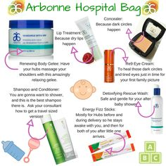 Let Arbonne help you prepare for your new addition :). **ABC Baby Wash is also a great addition! Arbonne baby hospital bag.