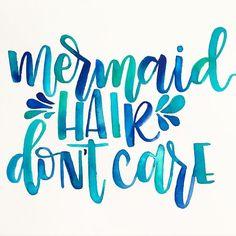 my hair is like a mermaid always. always messy ♓️