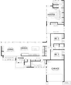 t shaped home plans modern style house plan 3 beds baths sq ft plan u shaped house plans with pool in middle Modern Floor Plans, Contemporary House Plans, Contemporary Style Homes, Modern House Plans, House Floor Plans, Kitchen Contemporary, L Shaped House Plans, U Shaped Houses, The Plan