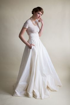 Beautiful Mix & Match Bridal Separates by Sharon Hoey | Love My Dress® UK Wedding Blog....ahhhhh! Pockets!