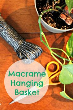 This DIY Macrame Hanging Basket is the perfect way to display some greenery without taking up table space. And it only takes 15 minutes to make!