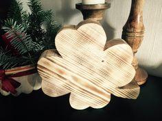 Deko-Objekte - Kleeblatt aus Holz - ein Designerstück von schaebigundchic bei DaWanda