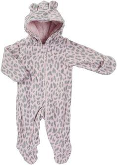 Carter's Baby Girls' Pram Fleece - Leopard Fleece - 6 Months